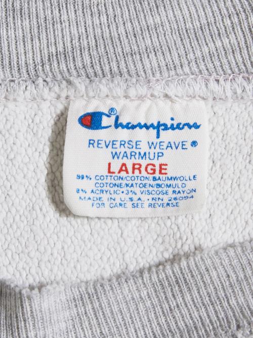 "1980s ""Champion"" R/W s/s sweat -OATMEAL-"
