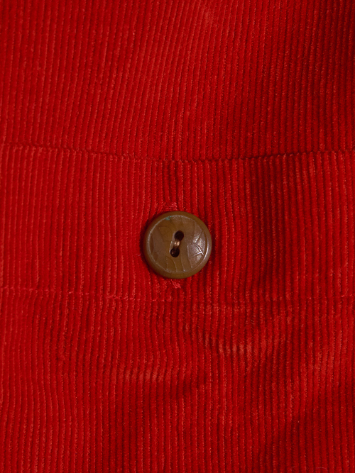 "1980s ""RALPH LAUREN COUNTRY"" corduroy shirt -ORANGE-"