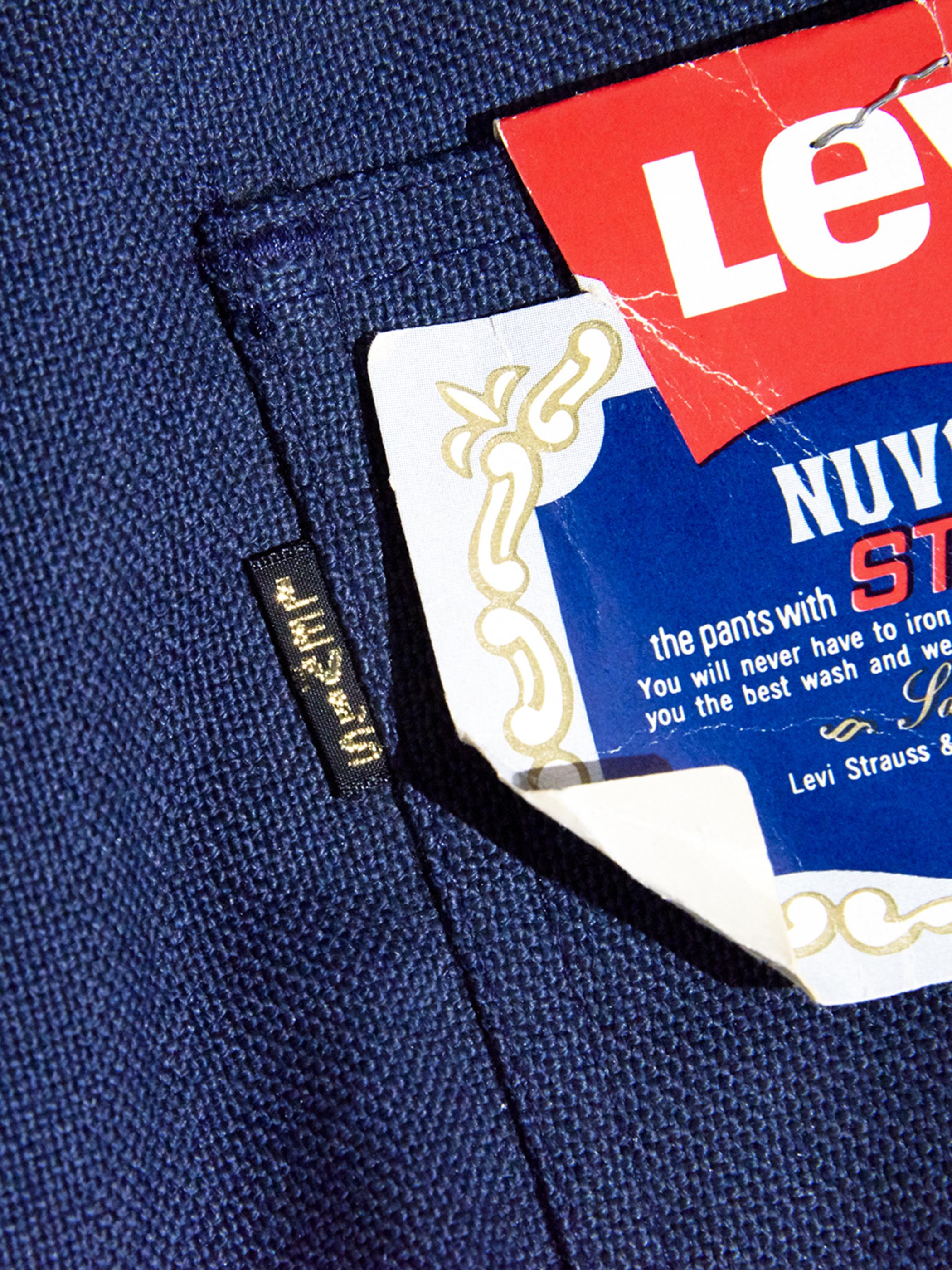 """1960s NOS """"LEVIS"""" STA-PREST custom tuck slacks -NAVY-"""