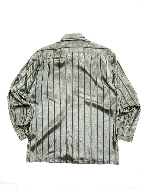 sheer stripes design shirt