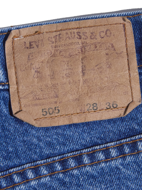 "1990s ""Levi's"" flair denim pants -BLUE-"
