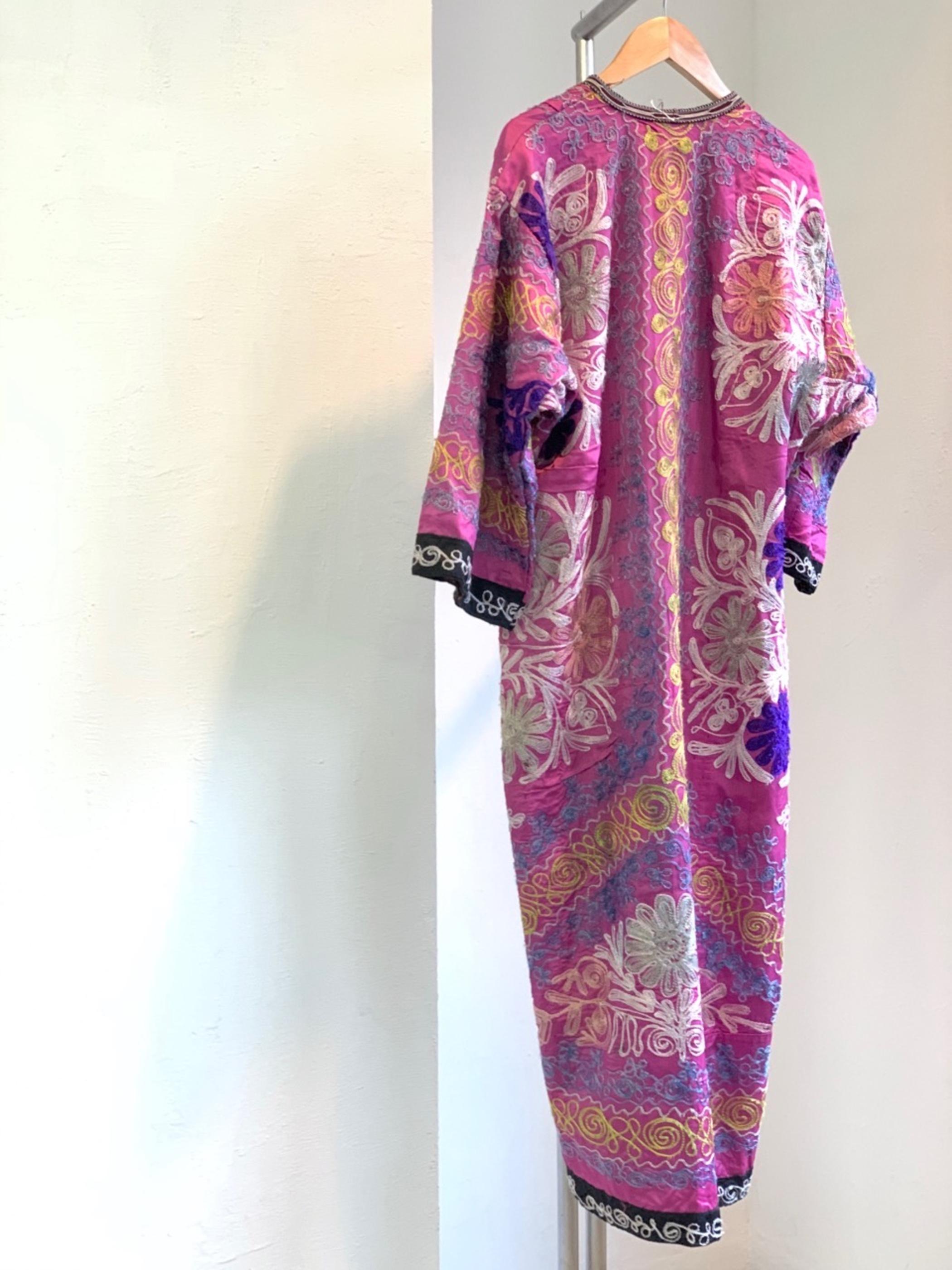 Lady's Vintage Uzbek Suzani gown dress