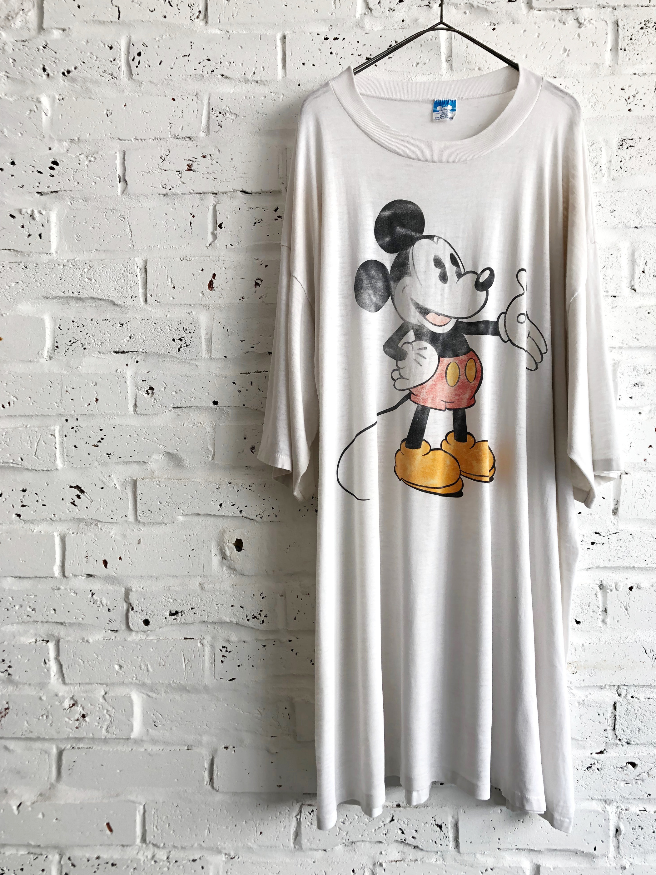Vintage 80's Super Over Size Big Mickey Mouse Print T-shirt