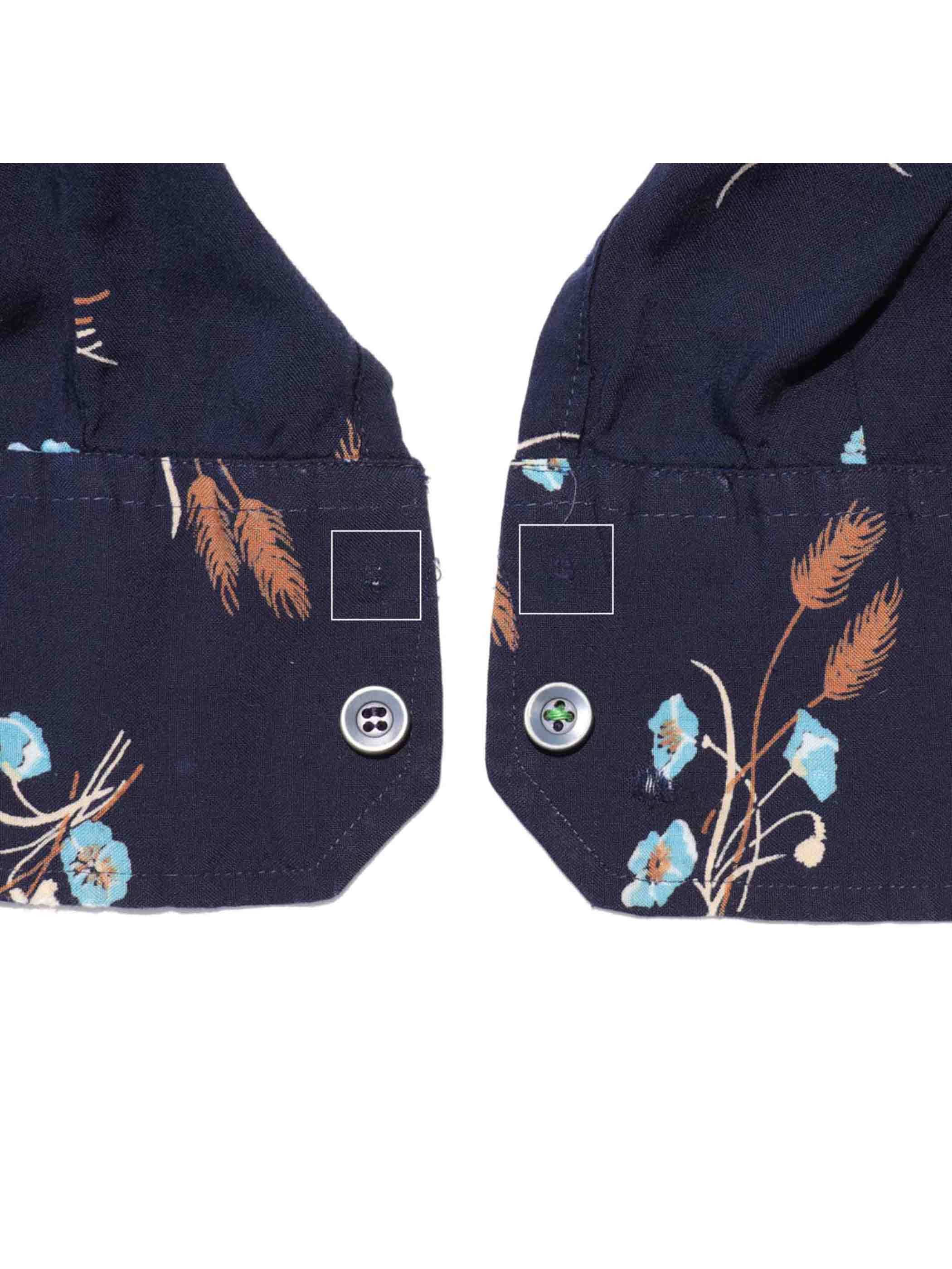 70's UNKNOWN ケシの花柄 レーヨンシャツ [16-1/2]