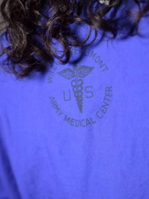 US ARMY 1960's DEAD STOCK SLEEPING SHIRTS PURPLE OVER DYE