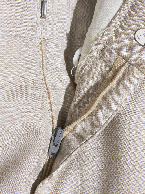 """1970s """"unknown"""" cotton/polyester slacks -BEIGE-"""