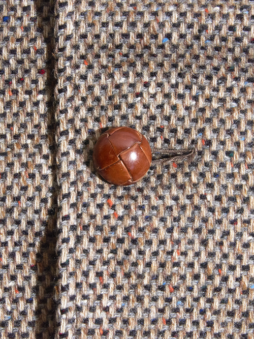 "1970s ""unknonw"" custom raglan wool coat -BROWN-"