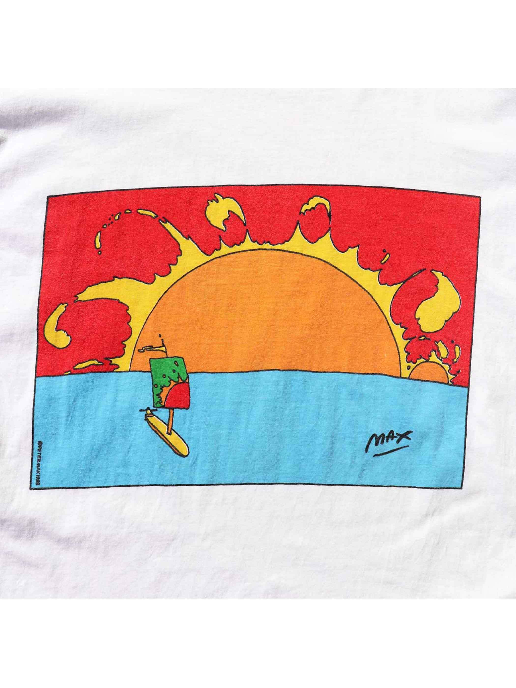 80's PETER MAX / NEO MAX アートTシャツ [About XL]