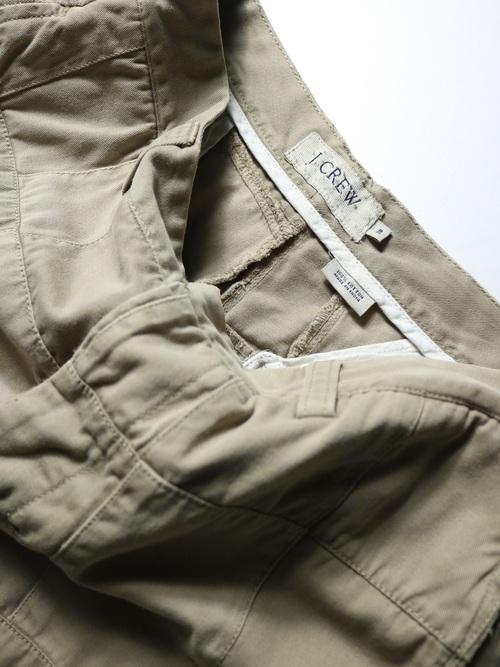 J.CREW Patch work Chino pants