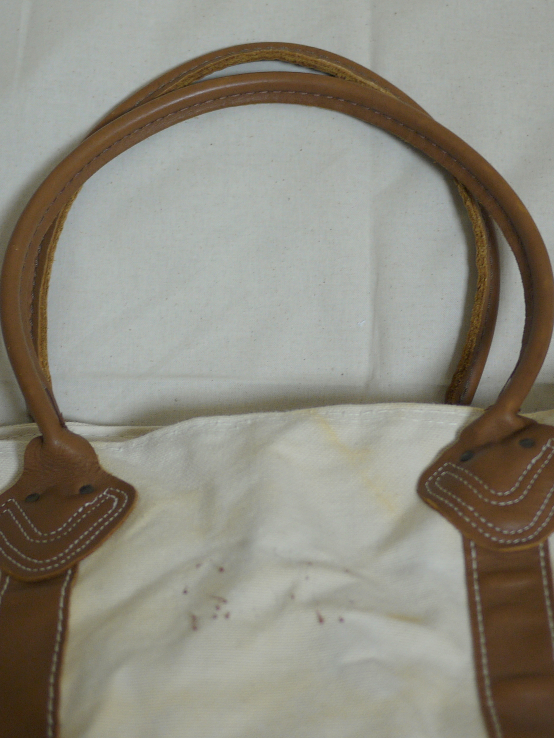 "L.L.Bean BOAT&TOTE CANVAS BAG ""Brown&leather"""