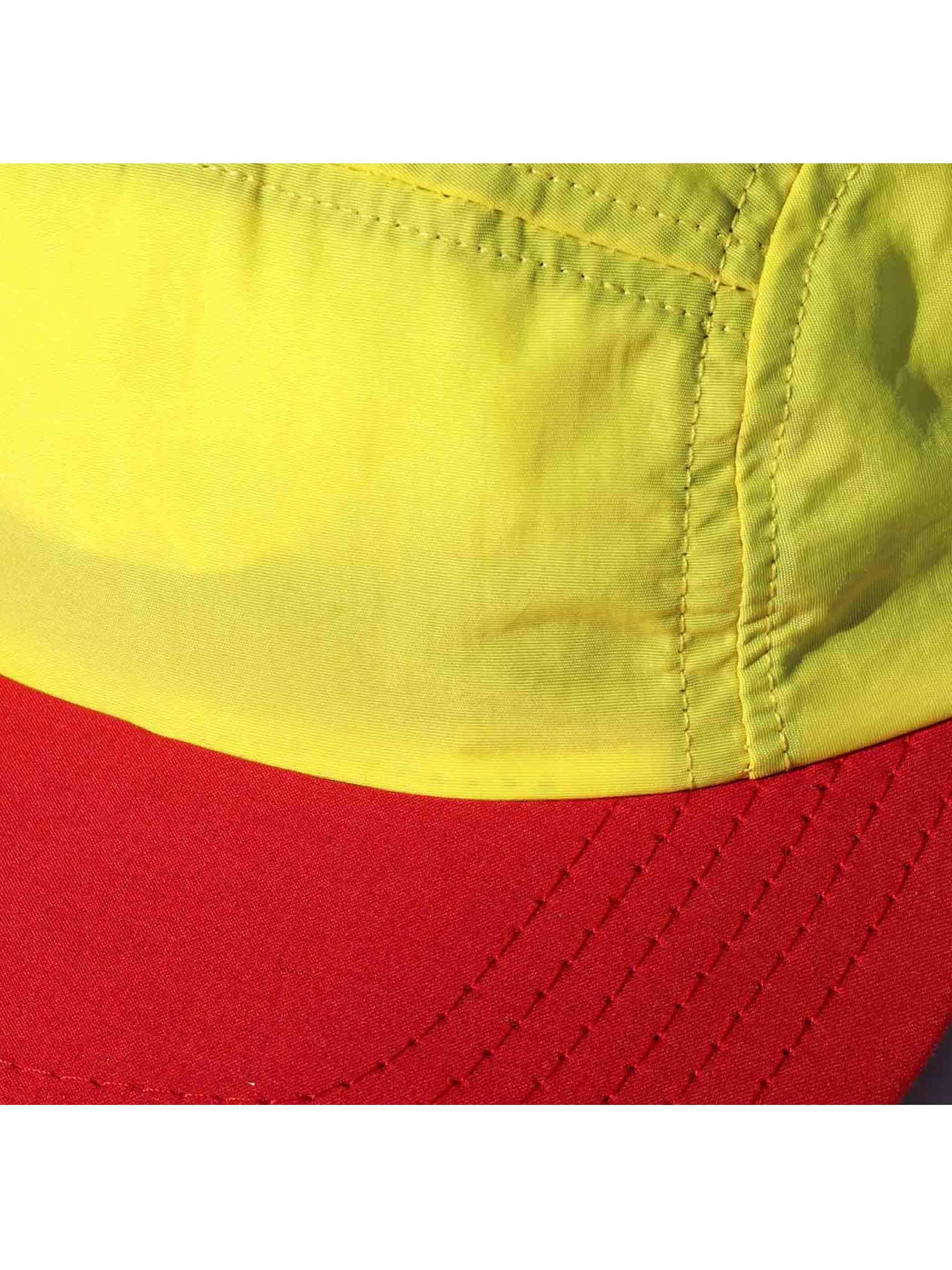 00's NEW ENGLAND CAP USA製 ロングバイザー ナイロンキャップ [FREE]
