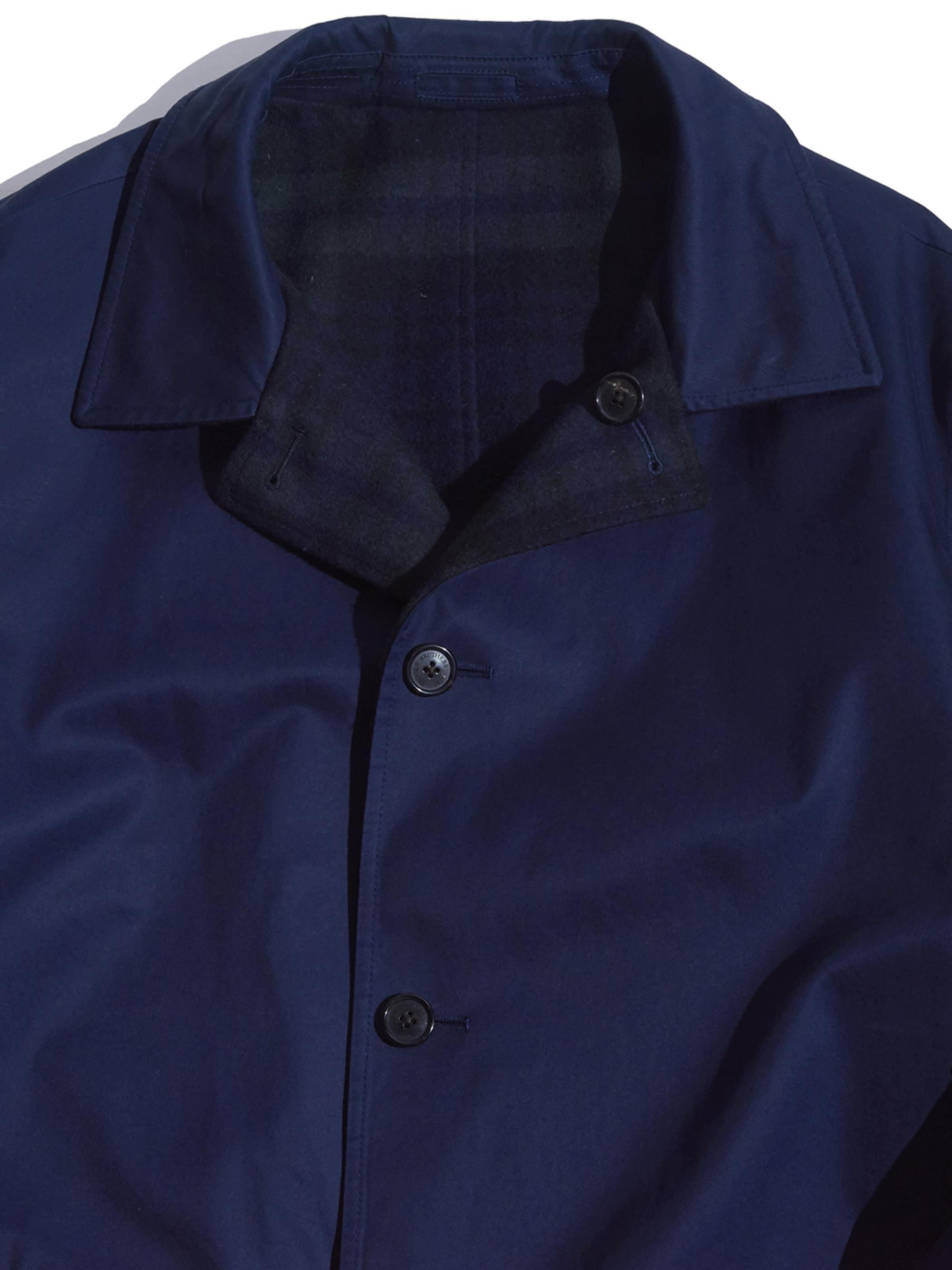 "2000s ""Brooks Brothers"" reversible coat -BLACK WATCH×NAVY-"
