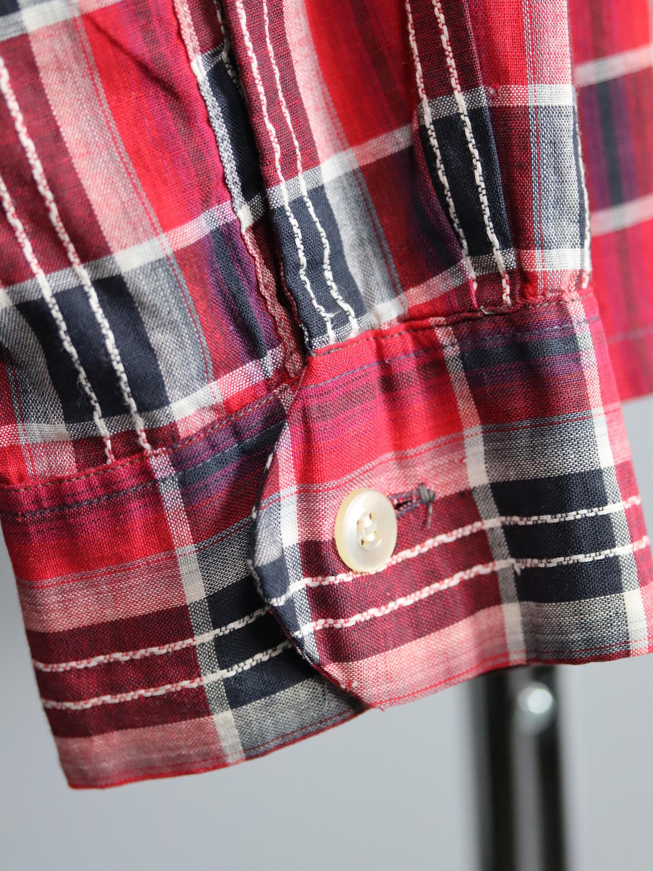 1960's Dunhill Cotton Open collar Check Shirts
