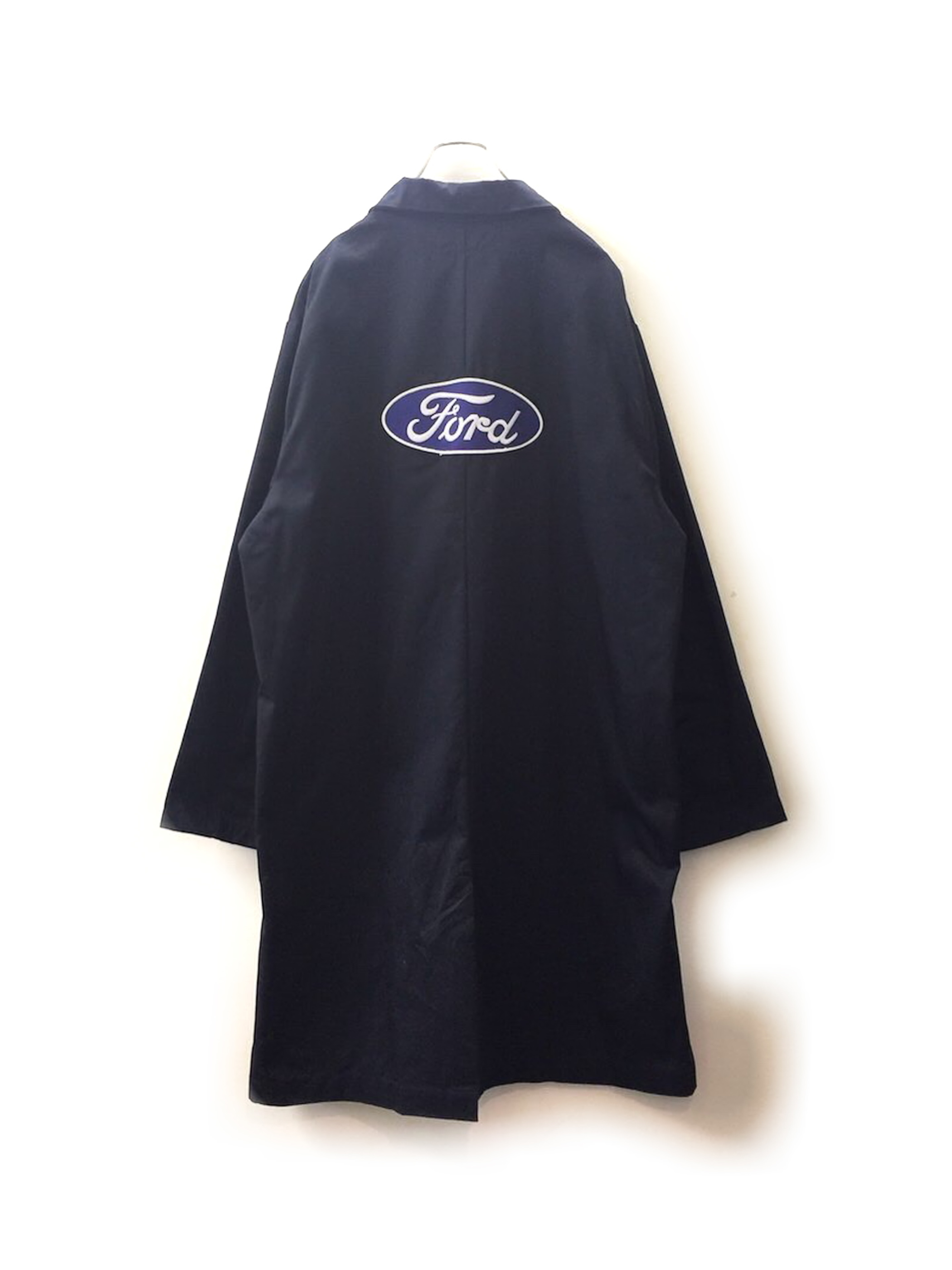 Ford オーバーサイズ ワーキング ショップコート ネイビー色 メンズ 古着