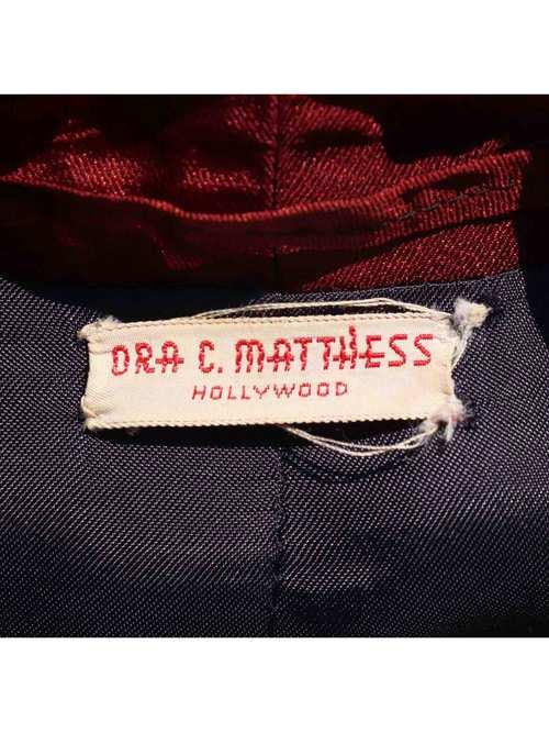50-60's DRA C. MATTHESS ペイズリープリント コットンスモーキングガウン [L]