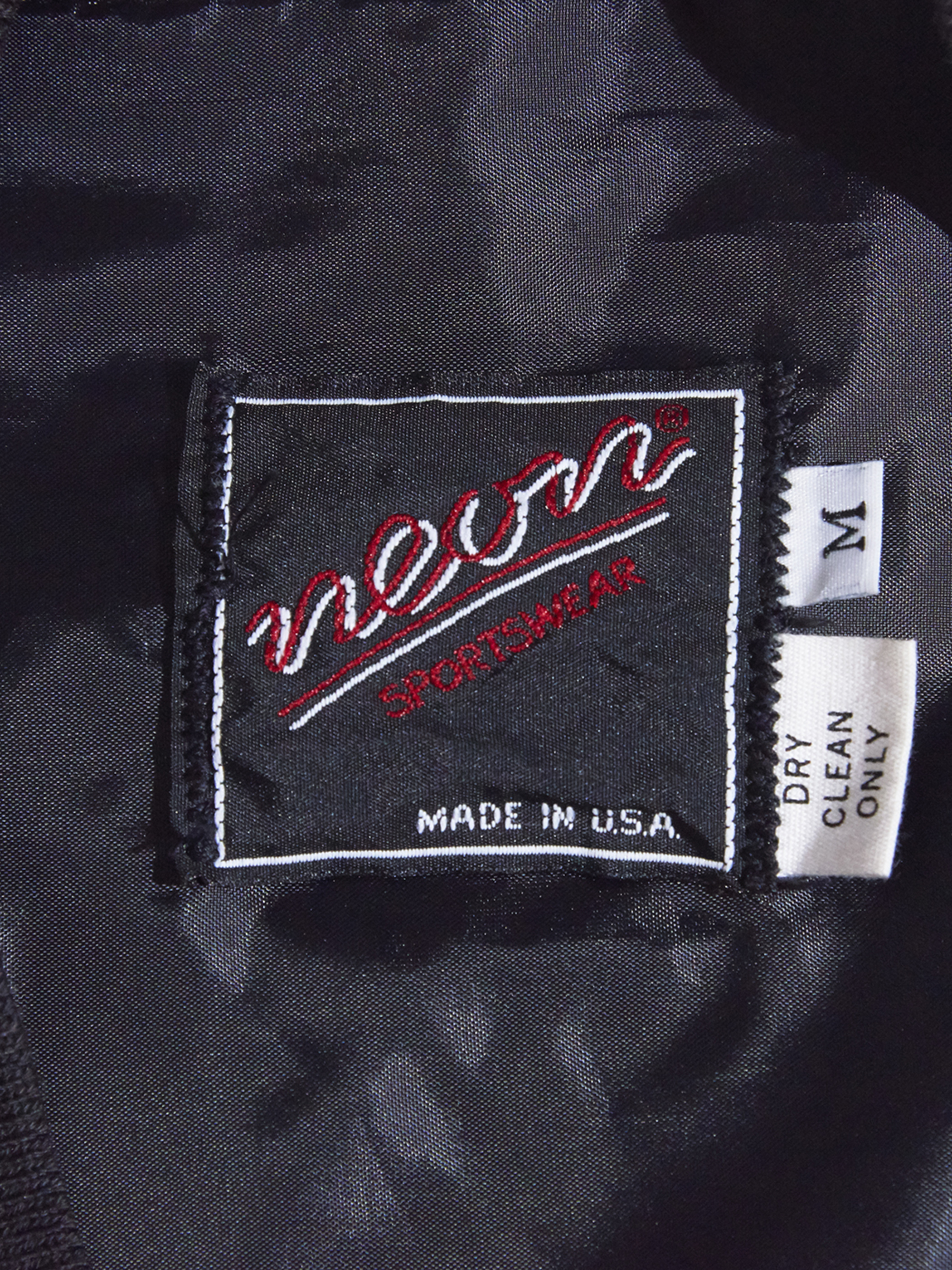 "1970s ""neon"" wool cardigan -CHACOAL-"