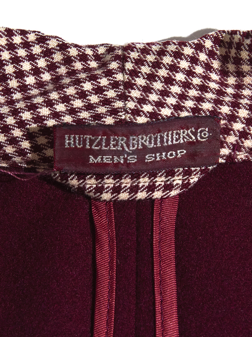 "1940s ""STATE-O-MINE"" wool smoking jacket -BURGANDY- <SALE¥28000→¥22400>"