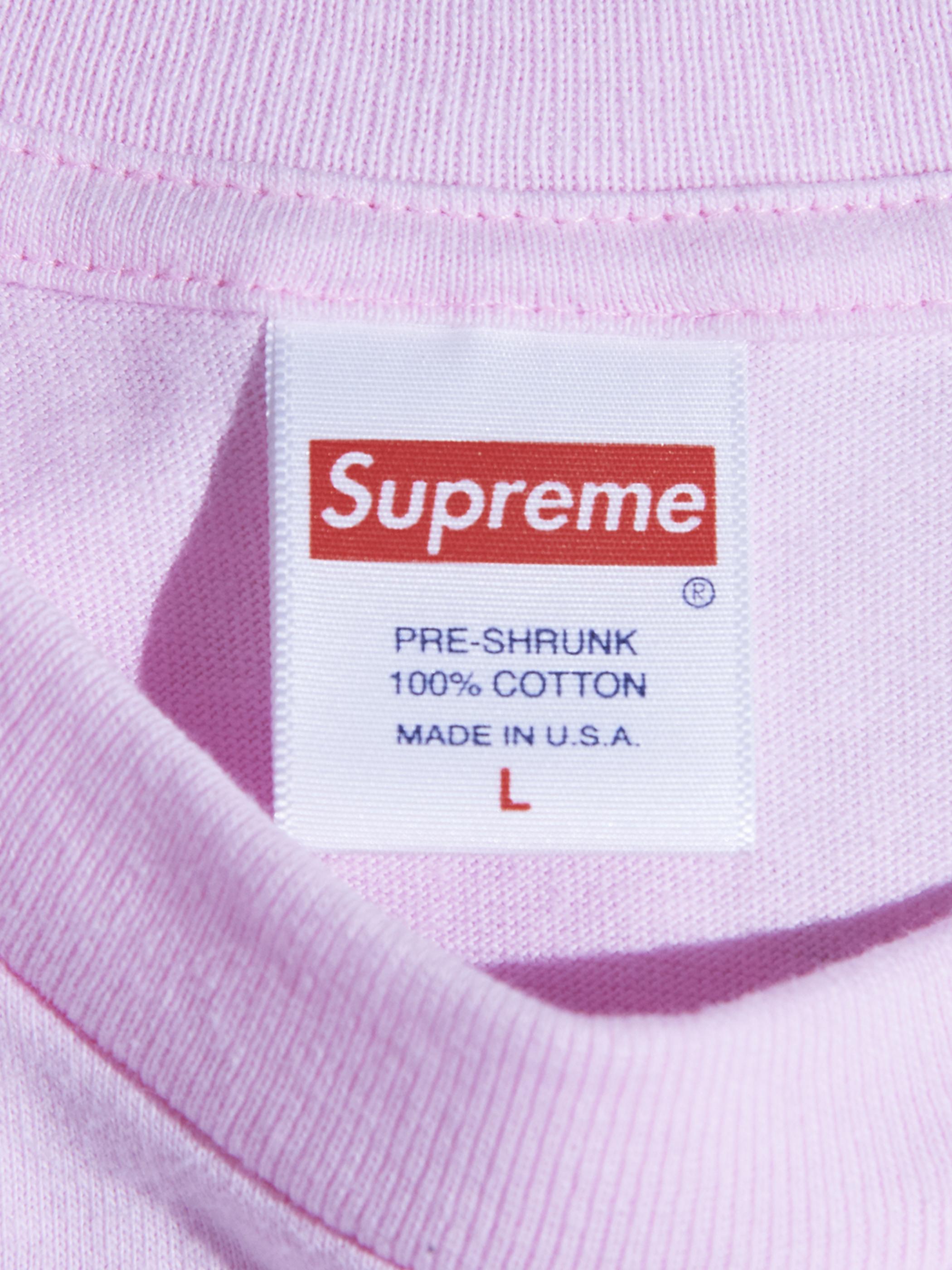 "2000s ""SUPREME?"" L/S blank tee -PINK-"