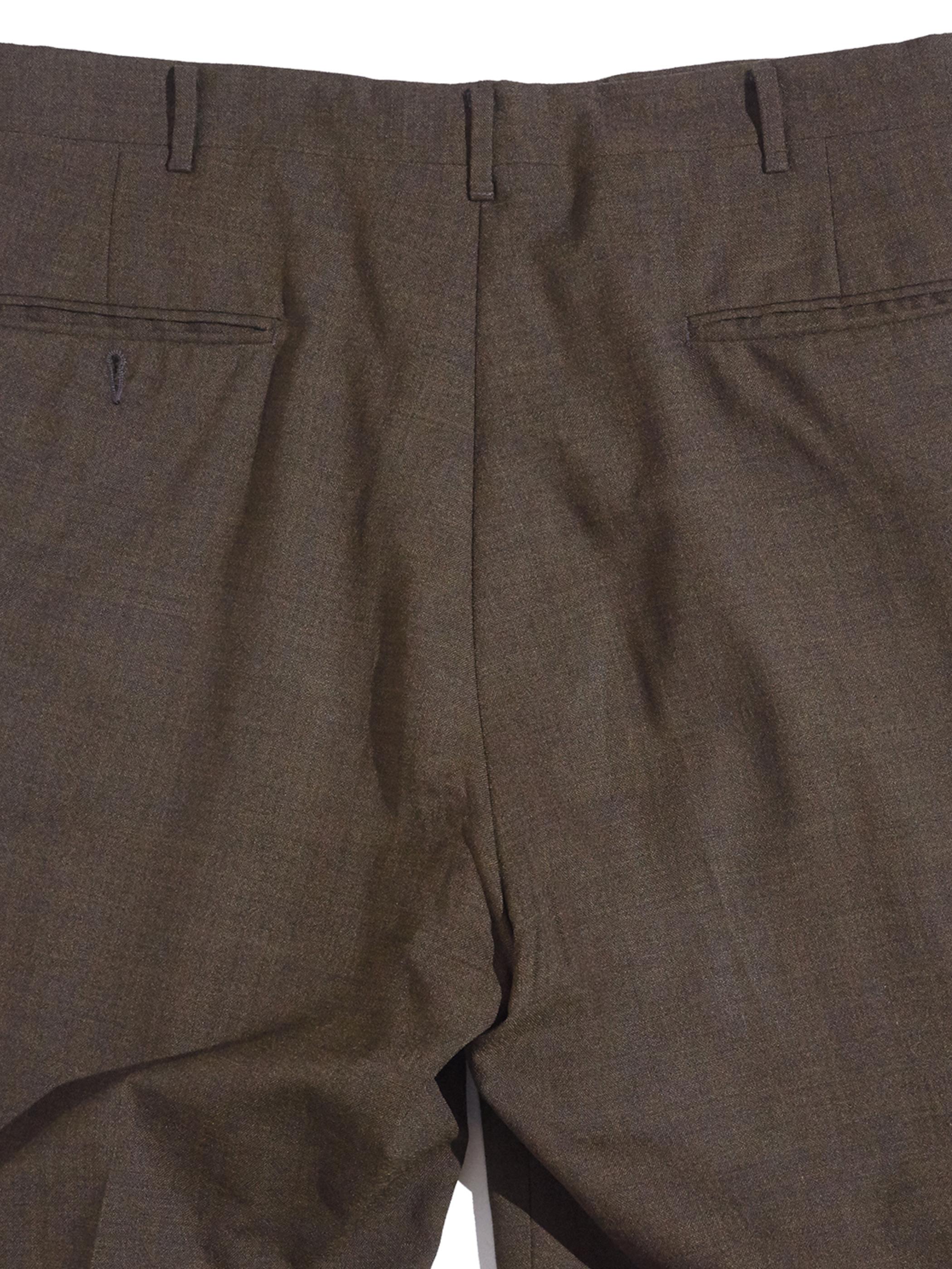"""1960s """"unknown"""" wool tapered slacks -BROWN-"""