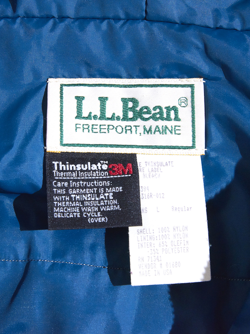"1990s ""L.L.Bean"" thinsulate tyrolean anorak -GREEN-"