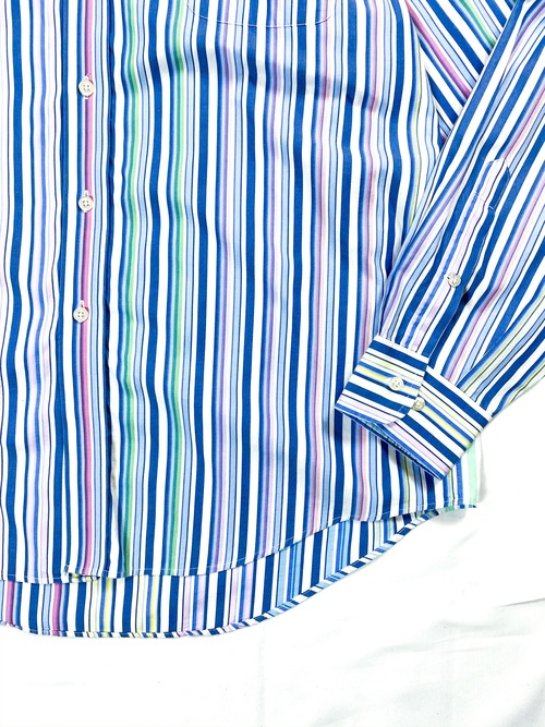 LANDS END multi stripe shirt