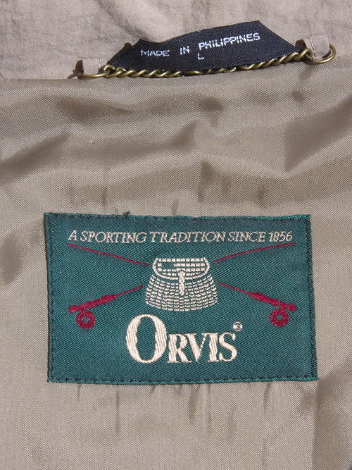 "1990s ""ORVIS"" packable nylon balcollar coat -BEIGE-"