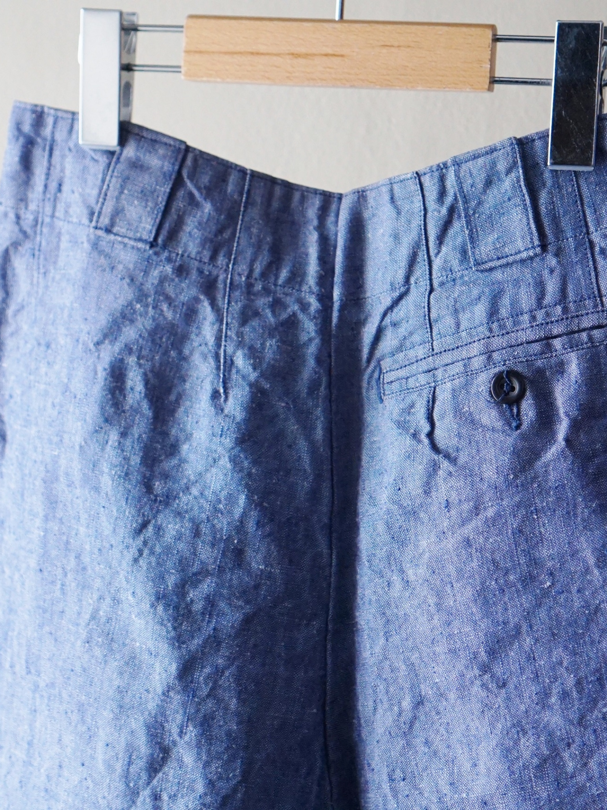 60's French Navy Linen Shorts