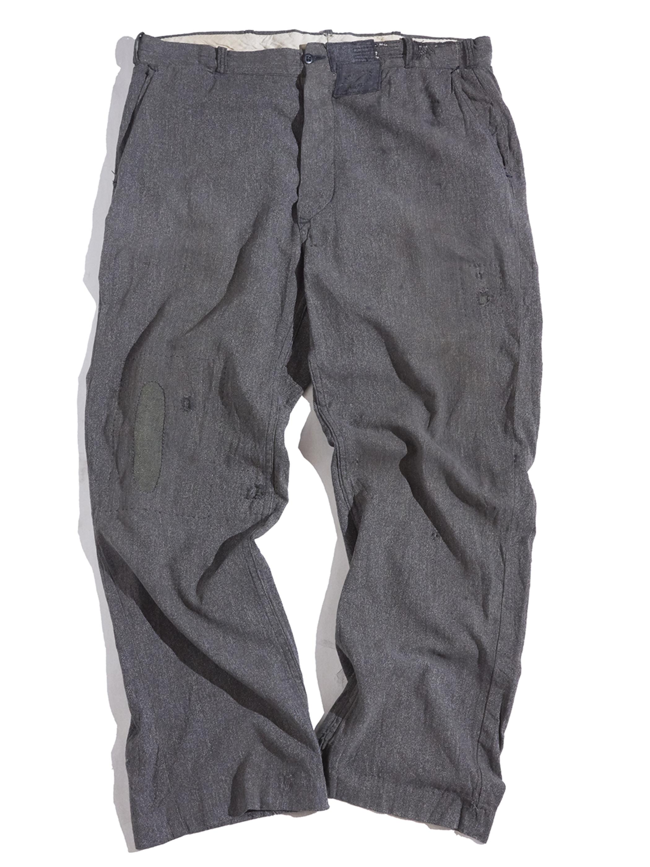 "1950s ""unknown"" black chambray work pants -BLACK-"