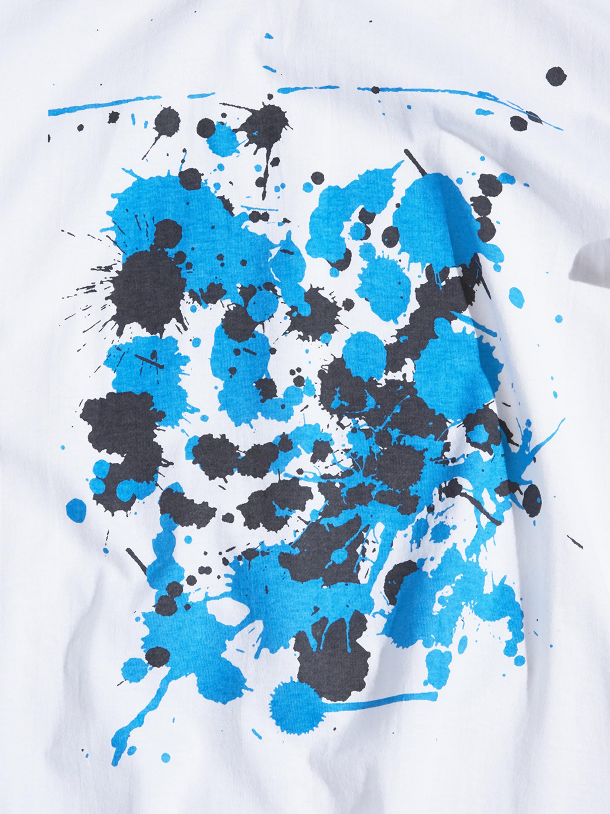 "2000s ""unknown"" splash paint printed tee #2 -WHITE-"