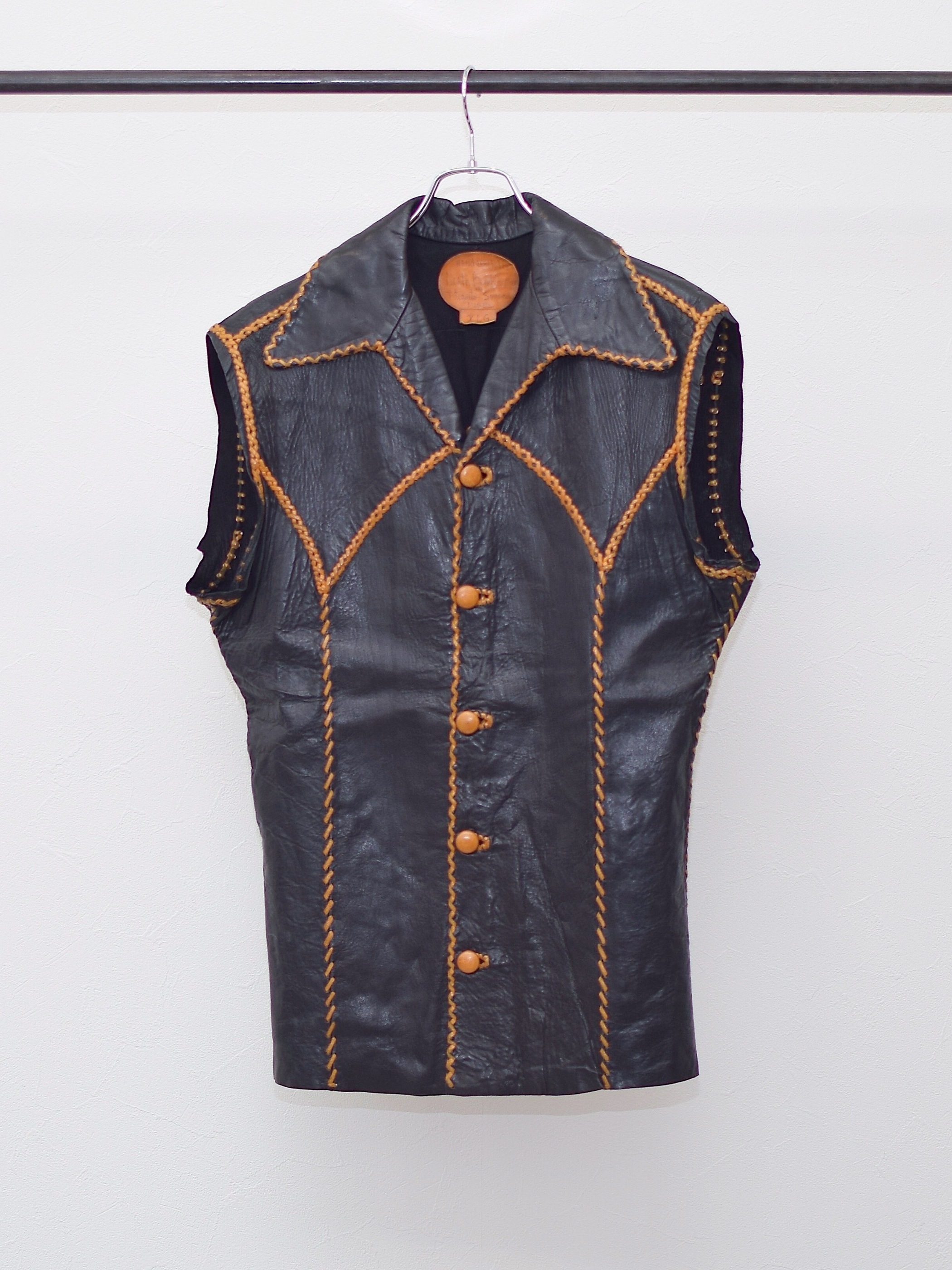 Vintage 70's【North Beach Leather】Leather Vest