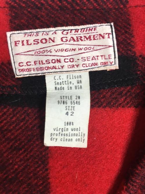 FILSON GARMENT Mackinaw Wool Vest フィルソン マッキーノーベスト[size42]