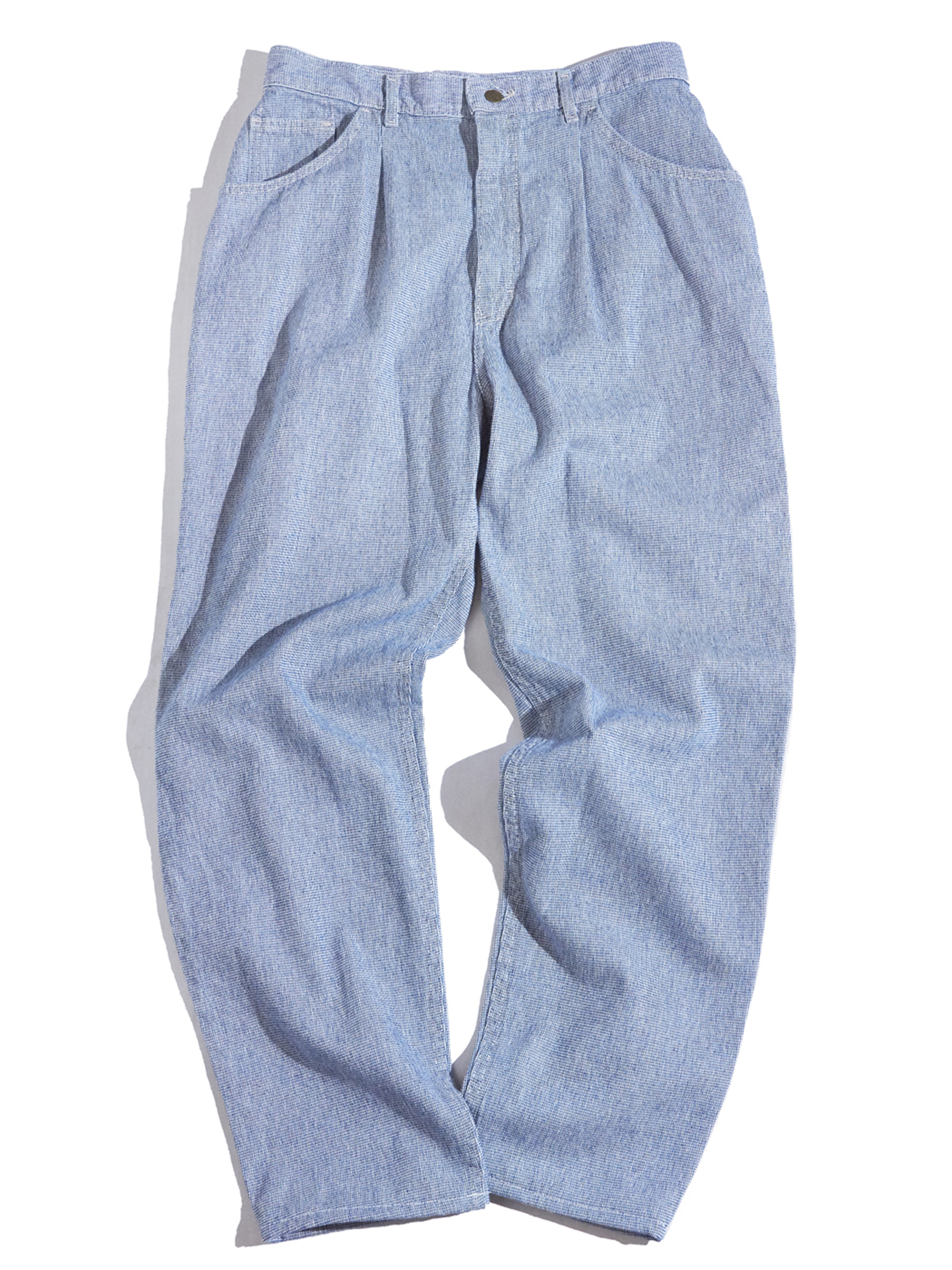 "1990s ""Lee"" pinstripe tarpered pants -SAX-"