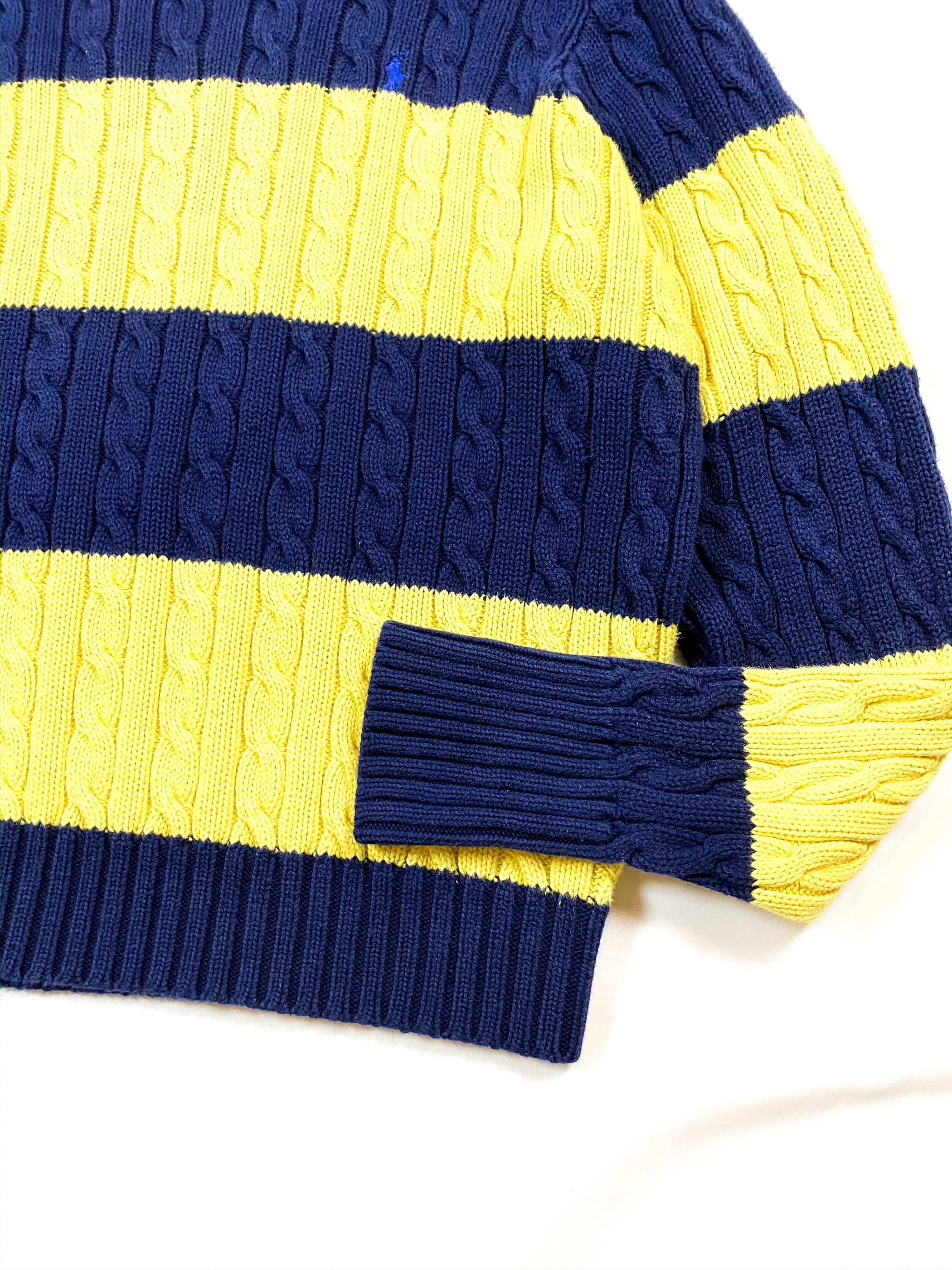 Ralph Lauren cotton border knit sweater