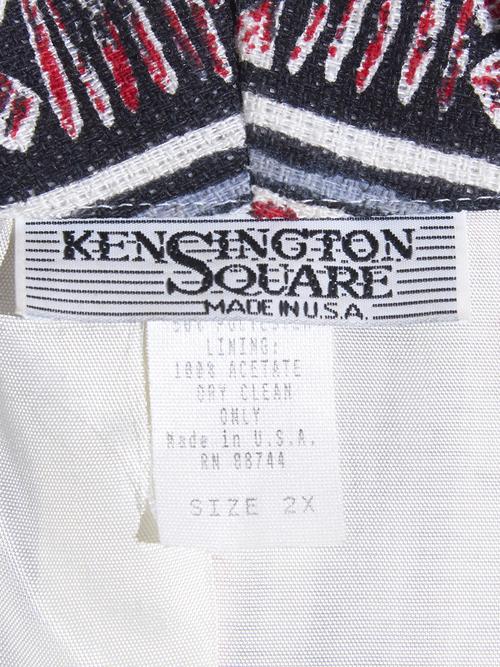 "1980s ""KENSINGTON SQUARE"" shawl collar pattern jacket -GREY-"