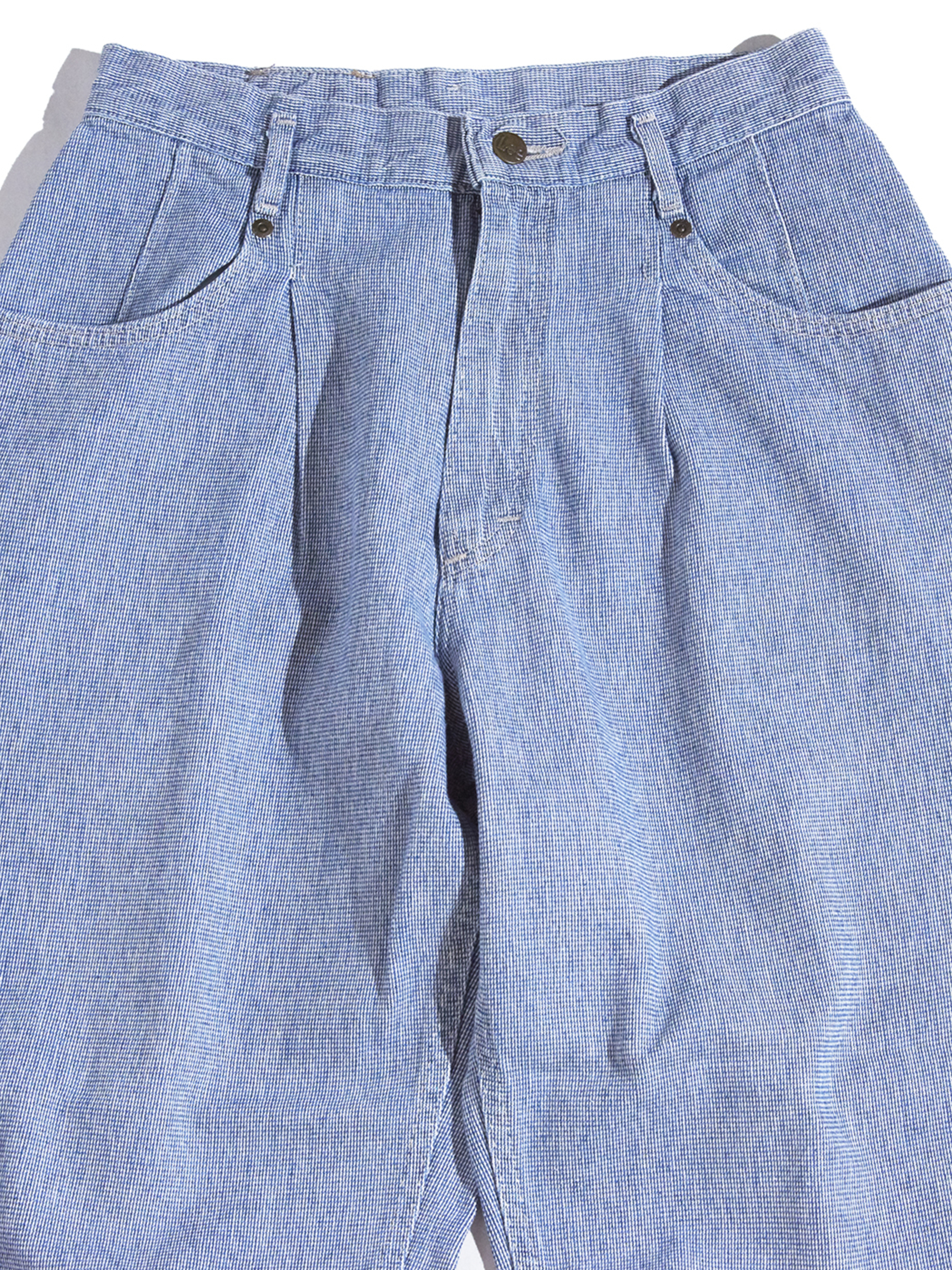 """1990s """"Lee"""" pin check tapered pants -SAX-"""