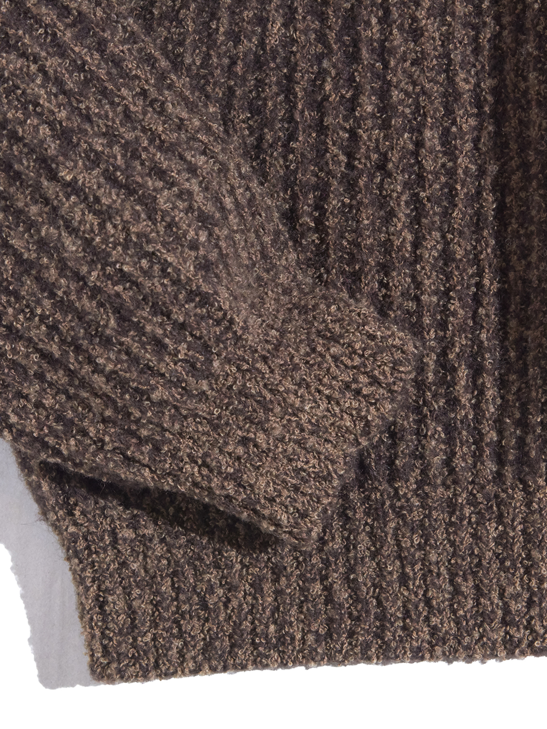 "1990s ""The J.Peterman Company"" cotton/wool knit -BROWN-"