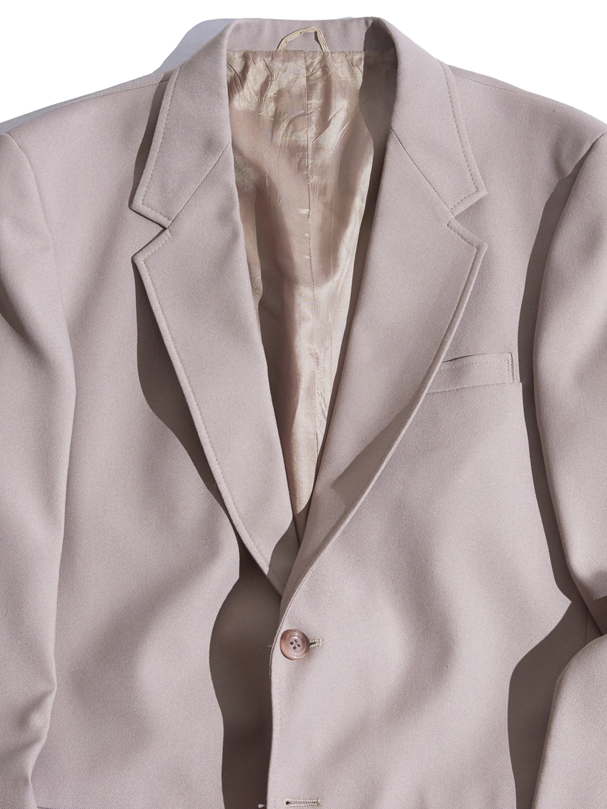"1970s ""JC Penney"" poly 3piece suits -BEIGE-"