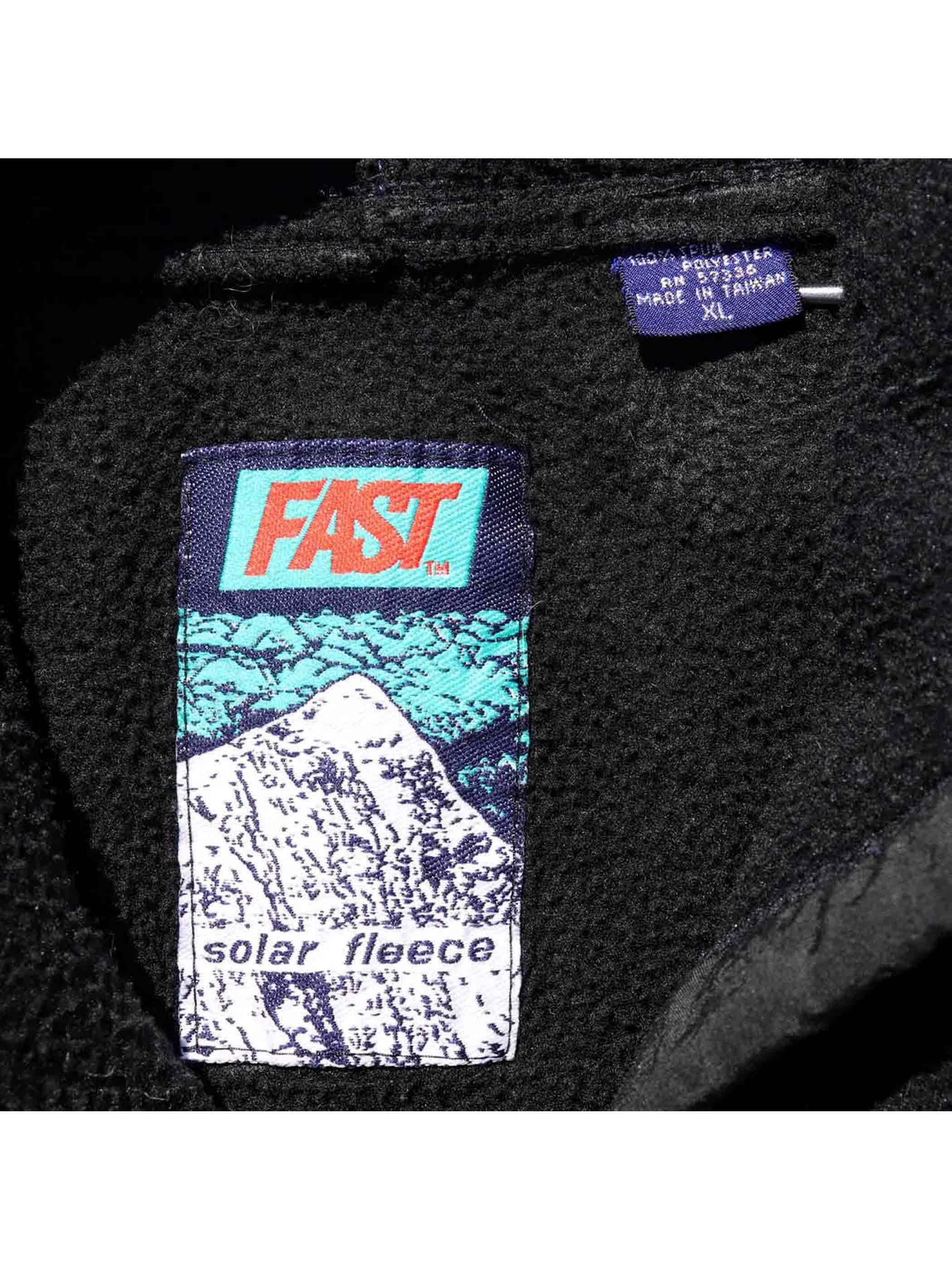 90's~ FAST フリース プルオーバーパーカー [XL]