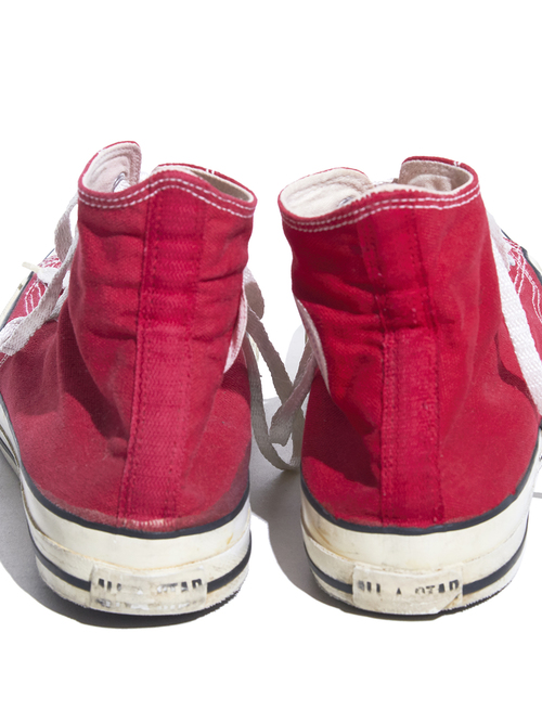 "1980s ""CONVERSE"" ALLSTAR Hi. canvas sneaker -RED-"
