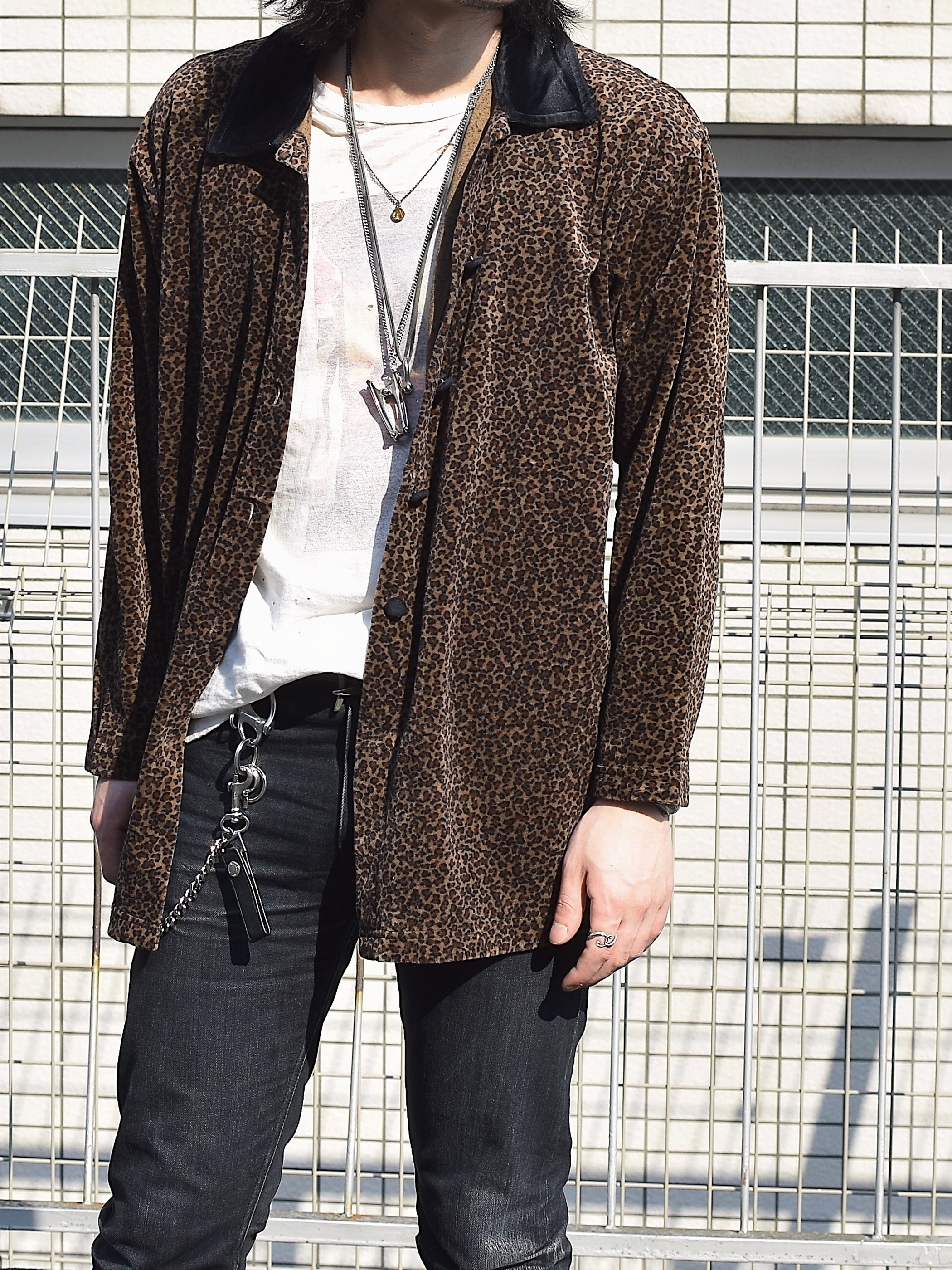 Vintage Leopard Velvet Shirt
