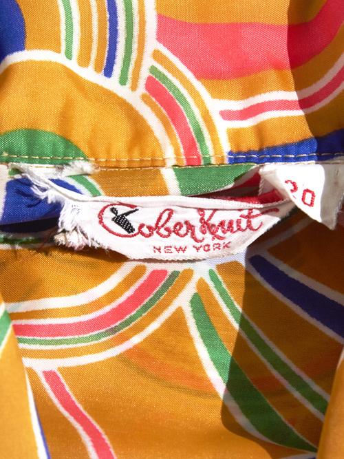 "1970s ""Cober Kuit"" nylon pattern jacket -YELLOW-"