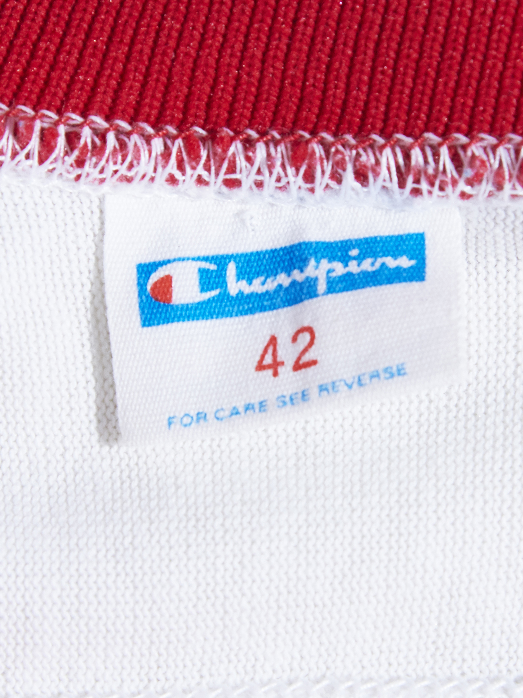 "1970s ""Champion"" football tee -WHITE-"