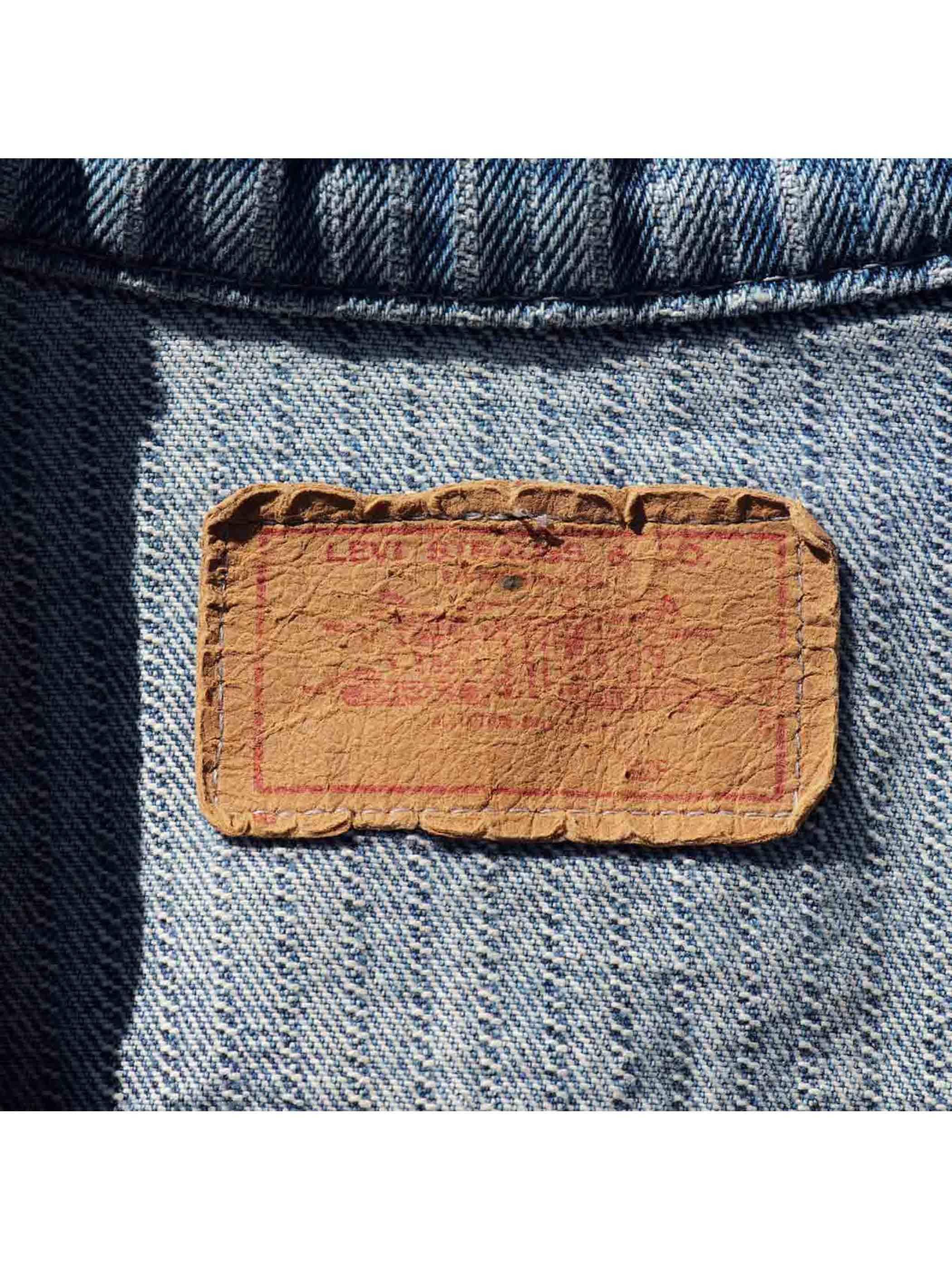 "80's LEVI'S ""70506 / STRIPE DENIM"" Trucker Jacket [About 44]"
