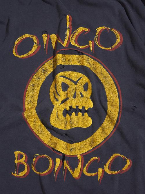 "1990s ""OINGO BOINGO"" print tee -BLACK-"