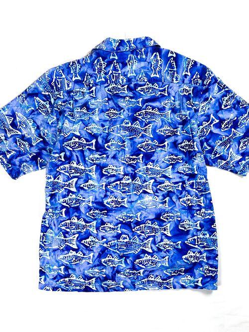 Columbia fish patterned aloha shirt