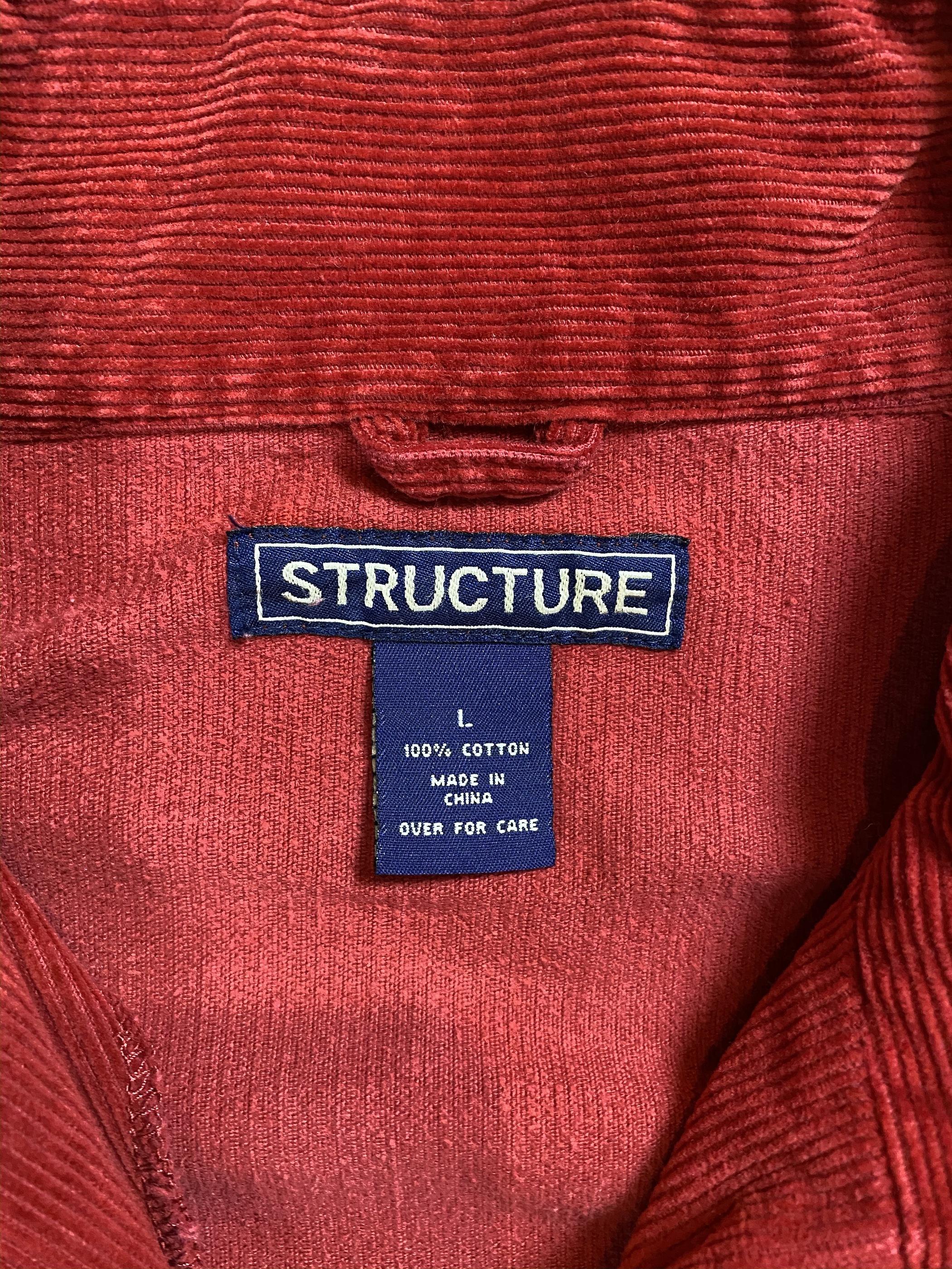 corduroy half zip jacket