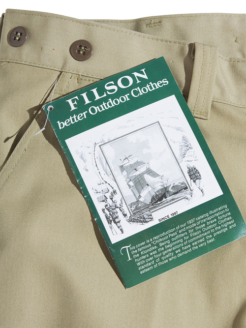 """NOS 1980s """"FILSON"""" duck work pants -BEIGE-"""