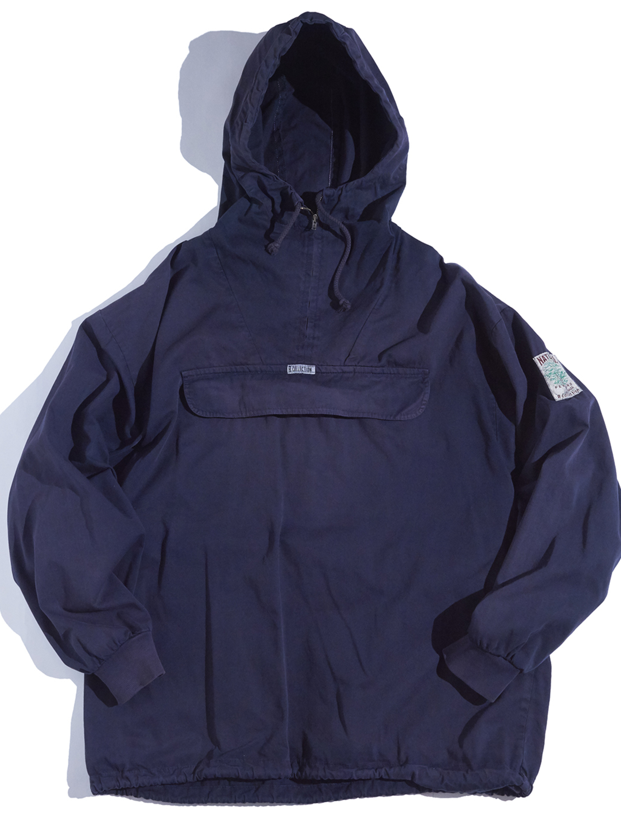 """1990s """"R COLLECTION"""" cotton anorak parka -NAVY-"""