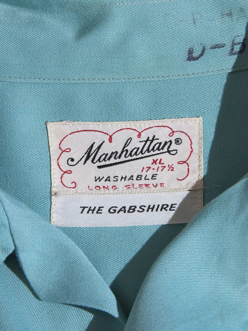 "1950s ""Manhattan"" rayon shirt -MINT-"