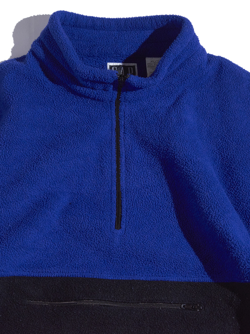 "1990s ""GAP"" half zip pullover fleece jacket -BLUE×NAVY-"